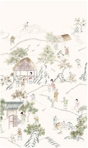 D'Arts Long Corridor behang chinoiserie