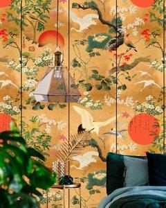 Behang Byobu Mind the Gap chinoiserie sfeer standaard versie