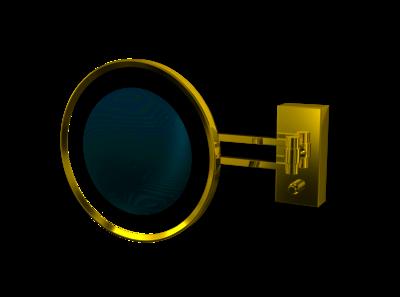Make-up Spiegel BS 36 Wandmodel LED 3x Goud