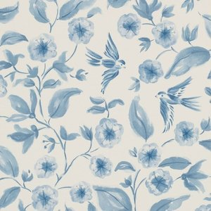 Sanderson bird blossom behang luxury by nature