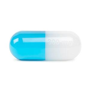 Jonathan Adler Acrylic Pill Presse Papier Medium Blauw