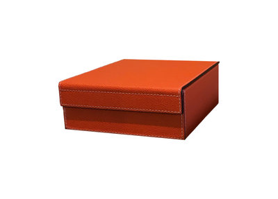 GIOBAGNARA Leren Dienblad Oranje
