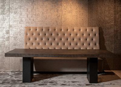Eettafel Bank Wit Leer.Eettafel 260 X 100 Cm Calvin Macazz Luxury By Nature