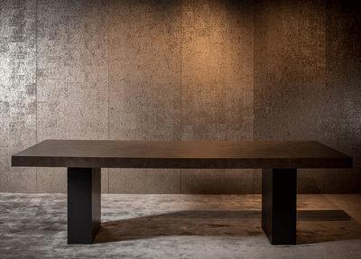 Exclusieve Houten Eettafels.Luxe Eettafel Calvin Macazz 300 X 110 Cm