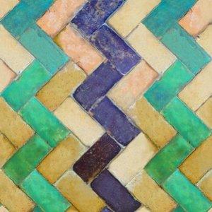 Tiles zig zag behang luxury by nature