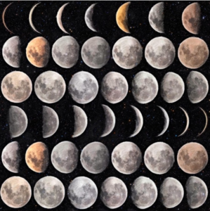 Mind the Gap Moon Phases Behang WP20066