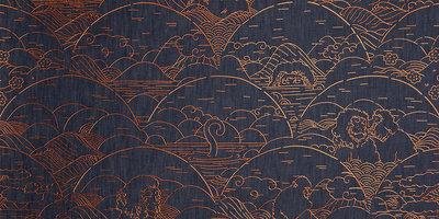 Indigo Macaque behang arte jeans apen