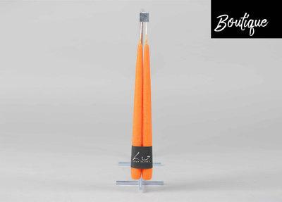 Luxe Oranje Tafelkaarsen