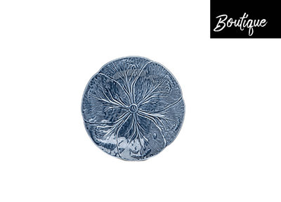 Bordallo Dinerbord Keramiek Koolbladeren Delfts Blauw
