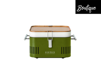 Barbecue Houtskool Cube Everdure Groen  Luxury By Nature Boutique