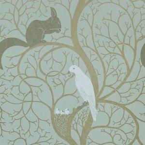 DVIWSQ103 sanderson Behang Vintage Squirrel & Dove 2