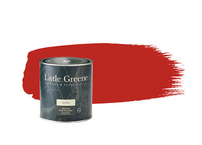 Verf Little Greene Atomic Red (190) Little Greene Dealer Amsterdam Luxury By Nature Boutique