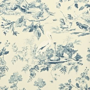Sanderson Behang Caverley: Aesops Fables DCAVAE103 Fig Blue 1