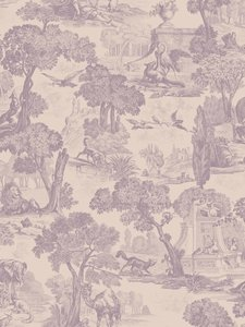 versailles behang papier cole and son behang  paars 4