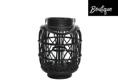 Lantaarn Rotan Zwart Luxury  By Nature Boutique