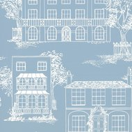 Behang Little Greene Hampstead james blue Luxury By Nature