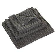 Luxe wafelhanddoeken grijs gris 920 - Pousada Serie Abyss Habidecor Stapel