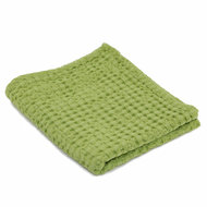 Luxe wafelhanddoeken groen green apple 165 - Pousada Serie Abyss Habidecor stapel