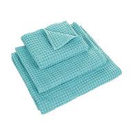 Luxe wafelhanddoeken blauw lagoon blue green 302 - Pousada Serie Abyss Habidecor Stapel