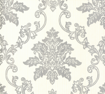 Hampton Behang 1838 Wallcoverings Rosemore Collection 1601-106-01 Silver